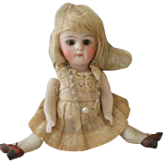 "Adorable 5.5"" All Bisque Doll Marked 184"