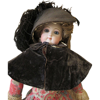 Black Cape & Bonnet for Your French Fashion Doll