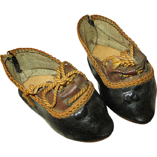 Pretty Antique Doll Shoes for Your French Fashion