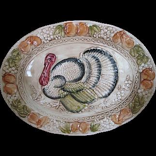 Beautiful Vintage Turkey Platter