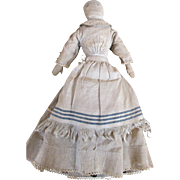 Quaint Early Folk Art Cloth Doll