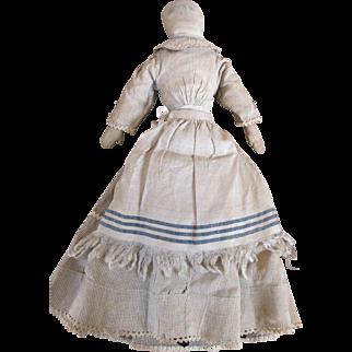 Quaint Early Folk Art Cloth Doll