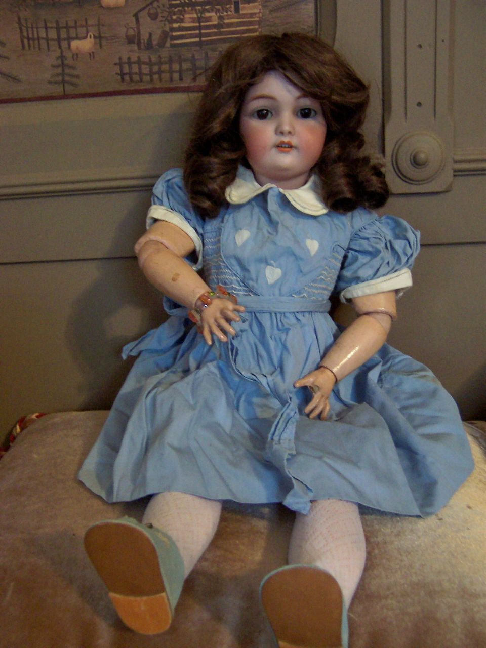 "24"" Simon Halbig/C.M. Bergmann Bisque Head Doll"