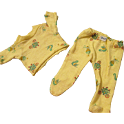 Rare Patterned Nitey Nite Pajamas for Dy-Dee Baby