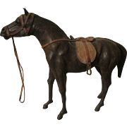 Leather Horse for Your Creche Scene