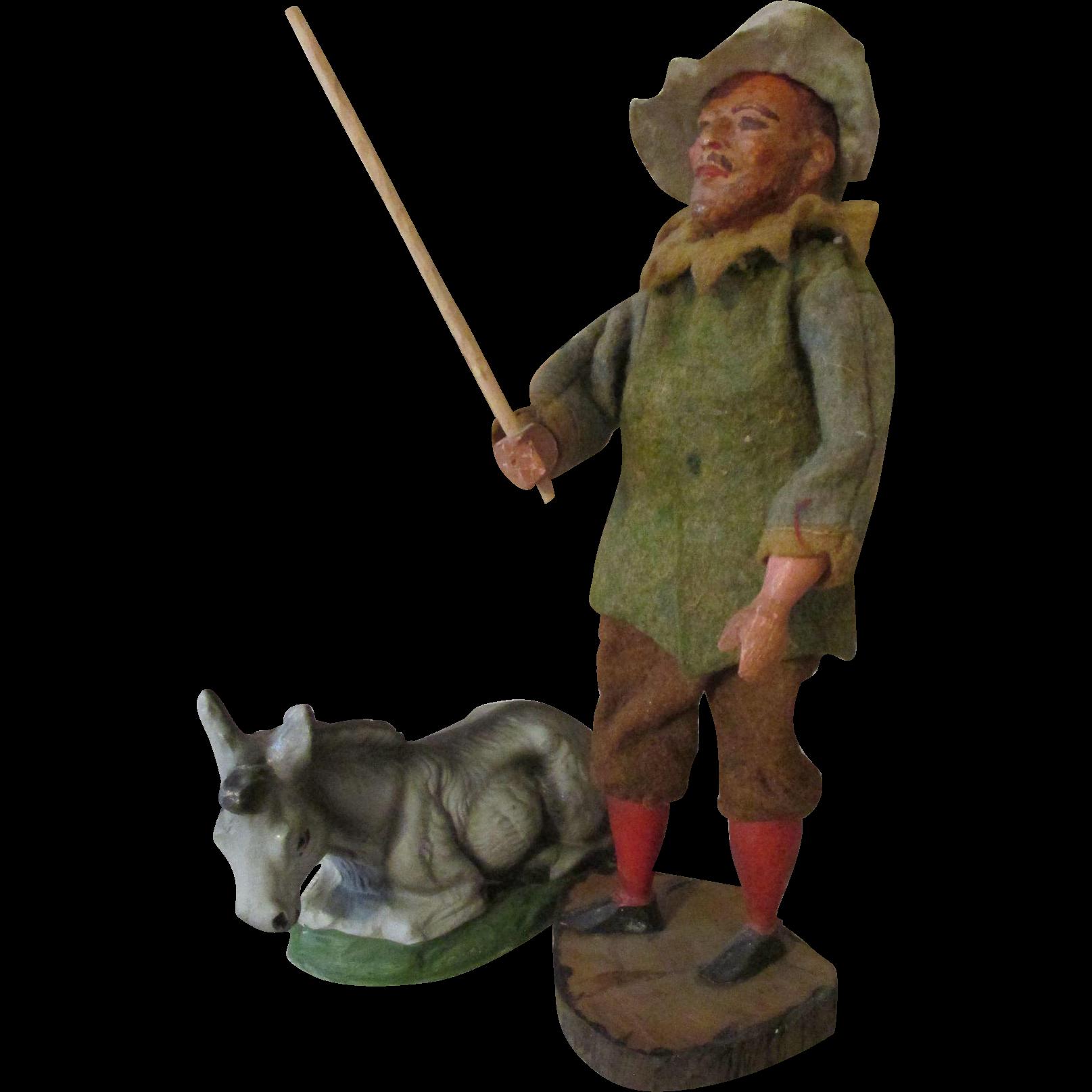 Antique Creche Figure for Your Creche Scene