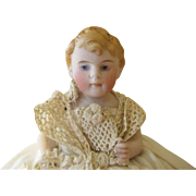 Endearing All Bisque Antique Baby Doll