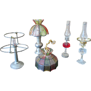 Vintage Wired Doll House Light Fixtures