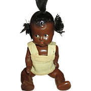 Sweet Tiny Black Composition Baby Doll - Black Americana