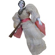 Beautiful Antique Wax Angel