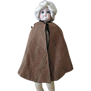 Antique lined Wool Cape for Your Antique Doll