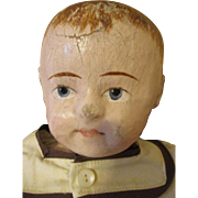 Antique Rollinson Cloth Doll - Adorable Face