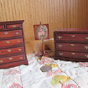 Doll House Chest of Drawers - Signed and Dated by Creator