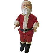 Vintage 1930's Composition Santa Doll