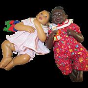 "Small 5.5"" Bent Knee Black Babies - Daddy's Babies"