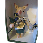 R. John Wright Doll - Piglet - From the Winnie the Pooh Series
