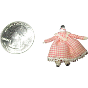 "Tiny 1"" Miniature Artist Top Knot Doll"