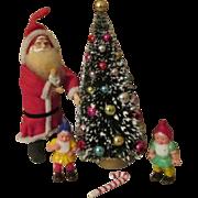 Doll House Santa, Tree, and Elves