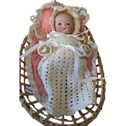 "Darling 7.5"" A.M. Dream Baby in Basket"