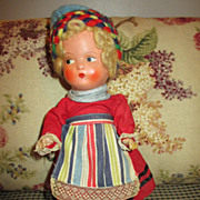 Darling Compo Doll in Original Clothes - Super Condition