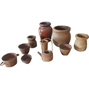 Miniature Wooden Bowls for Dolls