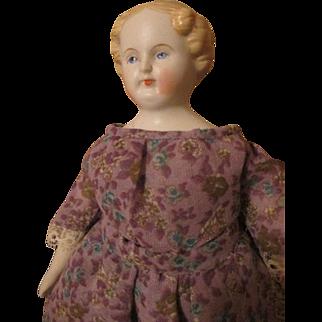 "Sweet 9"" Blond Parian China Head Doll"
