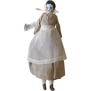 """Little 8.5"""" Antique China Head Doll"""