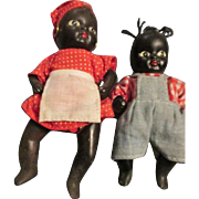 Two Black Americana Baby Dolls