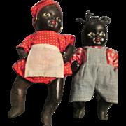 Two Black Americana Baby Dolls