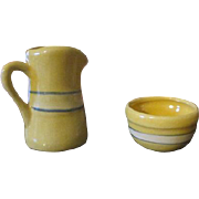 Doll Sized Yellow Ware
