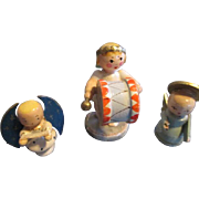 Sweet Wooden Erzgebirge Angels for Your Doll House