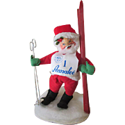 Annalee Santa Doll with Skis and Poles