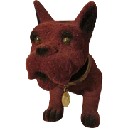 Adorable Flocked Dog for Your Doll