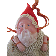 Vintage Celluloid Doll Faced Santa Candy Bag