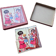 """Sweet 4"""" Four Piece Puzzle For Your Doll"""