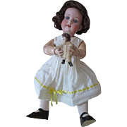 Sweet Antique German Bisque Head Doll with Chunky Toddler Torso