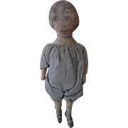 "Sweet Antique Cloth Doll - Only 7.5"" tall"