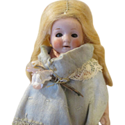 """Sweet 4.5"""" Antique All Bisque Doll"""