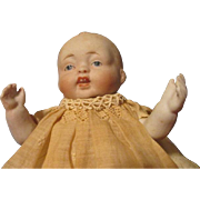 "Adorable 6.5"" All Bisque Nippon Baby Doll"