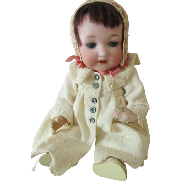 Rare Antique Bisque Head Otto Gans AM 975 Doll