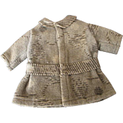 Little Wool Coat for Your Antique Doll