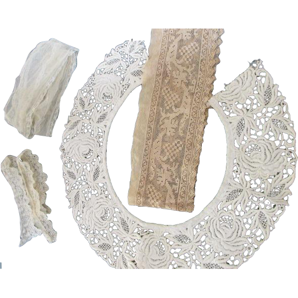 Antique Lace and Trim for Doll Dress Making