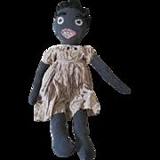 Antique Black Folk Art Doll