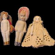 3 All Bisque Dolls