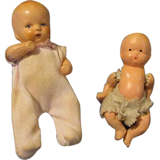 Two Sweet All Bisque Dolls