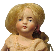 Antique All Bisque Solid Dome Head Doll