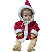 "Red and White Coat for your 20"" Dy Dee Baby Doll"