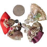 Hold for Rachael - 4 Antique Tiny China Dolls - Miniature Dolls