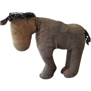 Early Primitive Antique Cloth Pony for Your Antique Cloth Dolls