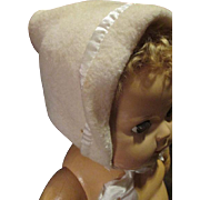 "Vintage Eiderdown Bonnet For Your 20"" Dy Dee Baby"